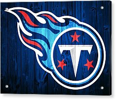 Tennessee Titans Barn Door Acrylic Print by Dan Sproul