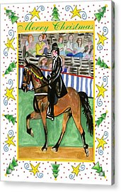 Tennessee Walking Horse Blank Christmas Card Acrylic Print by Olde Time  Mercantile