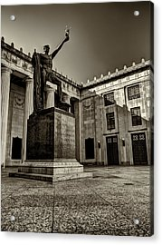 Tennessee War Memorial Black And White Acrylic Print by Joshua House