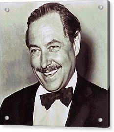 Tennessee Williams Acrylic Print by Dan Sproul
