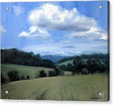 Tennessee's Rolling Hills And Clouds Acrylic Print by Erin Rickelton