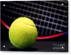 Tennis Ball And Racket Acrylic Print
