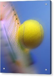 Tennis Ball And Racquet Acrylic Print by Science Photo Library