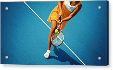 Tennis Game. Acrylic Print by Gilaxia