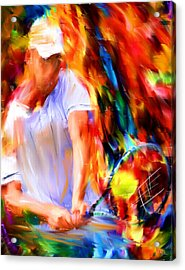 Tennis II Acrylic Print by Lourry Legarde