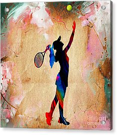 Tennis Match Acrylic Print by Marvin Blaine