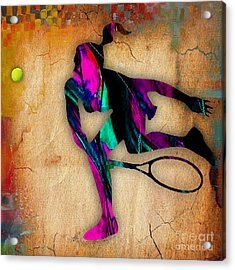 Tennis Painting Acrylic Print by Marvin Blaine