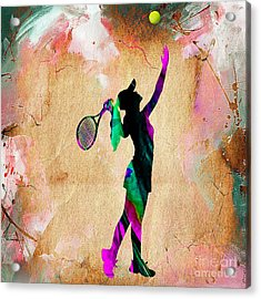 Tennis Player Acrylic Print by Marvin Blaine