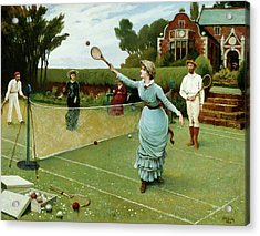 Tennis Players, 1885 Acrylic Print by Horace Henry Cauty