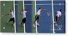 Tennis Serve By Mikhail Youzhny Acrylic Print