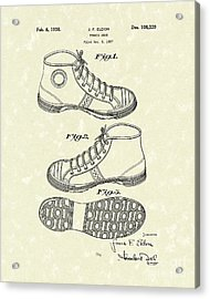 Tennis Shoe 1938 Patent Art Acrylic Print by Prior Art Design