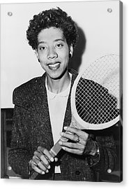 Tennis Star Althea Gibson Acrylic Print by Fred Palumbo