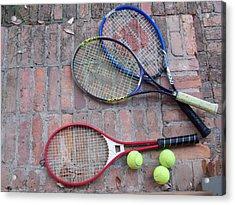 Tennis Time Acrylic Print by Annette Allman