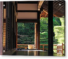 Acrylic Print featuring the photograph Tenryui-ji - Temple - Kyoto by Jacqueline M Lewis