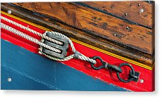 Tension On The Sailing Vessel Acrylic Print