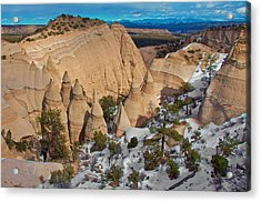 Acrylic Print featuring the photograph Tent Rocks National Monument by Britt Runyon