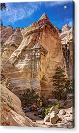 Acrylic Print featuring the photograph Tent Rocks No. 2 by Dave Garner