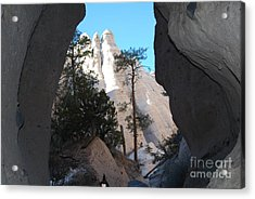 Tent Rocks Acrylic Print by William Wyckoff