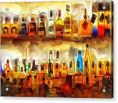 Tequila Bar At Aquila Restayrant Acrylic Print