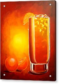 Acrylic Print featuring the painting Tequila Sunrise by Darren Robinson