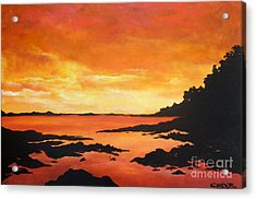 Acrylic Print featuring the painting Tequila Sunset by Chad Berglund