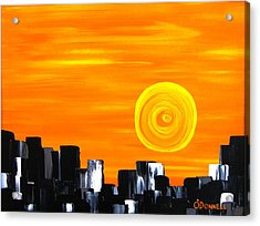 Tequila Sunset Acrylic Print