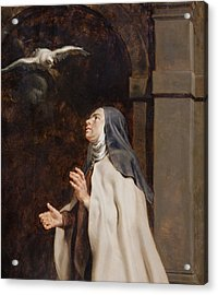 Teresa Of Avilas Vision Of A Dove Acrylic Print by Peter Paul Rubens
