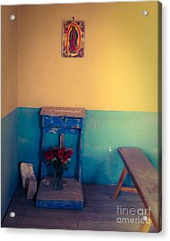 Terlingua Church Offering Acrylic Print by Sonja Quintero