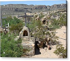 Acrylic Print featuring the photograph Terlingua by Linda Cox