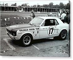 Terlingua Mustang At Marlboro Trans Am Race 1967 Acrylic Print