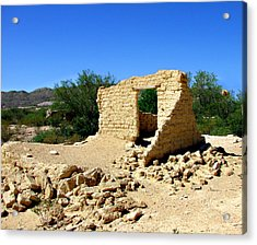 Terlingua Texas Ghost Town Acrylic Print by Linda Cox