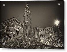 Terminal Tower At Night Acrylic Print