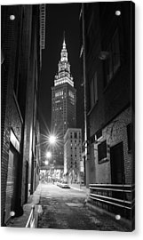 Terminal Tower From A Cleveland Alley Acrylic Print