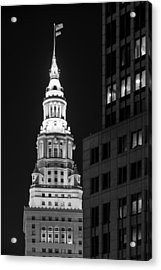 Terminal Tower In Black And White  Acrylic Print