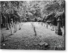 Terpenning Cemetery B And W Acrylic Print