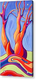 Acrylic Print featuring the painting Terpsichore Tribute by Sandi Whetzel