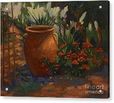 Terra Cotta Garden Acrylic Print