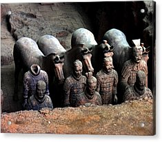 Terra Cotta Warriors Xiang China Acrylic Print by Jacqueline M Lewis