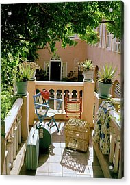 Terrace At A Guest House At Waterloo Acrylic Print