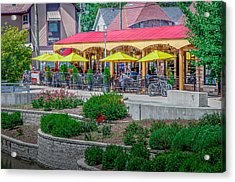 Terrace Dining On The Monon Trail Acrylic Print