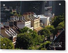Terrace Houses In The Rocks Area Of Sydney Acrylic Print