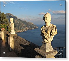 Terrace Of Infinity In Ravello On Amalfi Coast Acrylic Print by Kiril Stanchev