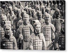 Terracotta Army Acrylic Print by Adam Romanowicz