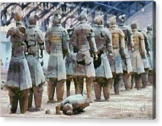 Terracotta Warriors Acrylic Print by George Atsametakis