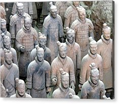 Terracotta Warriors Acrylic Print by Kay Gilley
