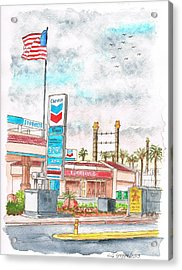 Terribles Chevron Gas Station, Laughlin, Nevada Acrylic Print