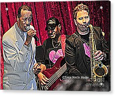 Acrylic Print featuring the photograph Terrific Trio Of Talent by Tonia Noelle