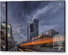 Terrific Warsaw With Zoom Perspective From Jerozolimskie To Rondo One Acrylic Print