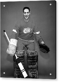 Terry Sawchuk Portrait Poster Acrylic Print by Gianfranco Weiss