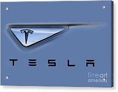 Tesla Model S Acrylic Print by David Millenheft